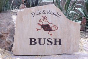 flagstone sign for residence