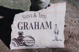 personalized flagstone sign